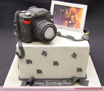 Stupendous Camera Birthday Cake Birthday Cakes Camera Cakes Secret Personalised Birthday Cards Sponlily Jamesorg
