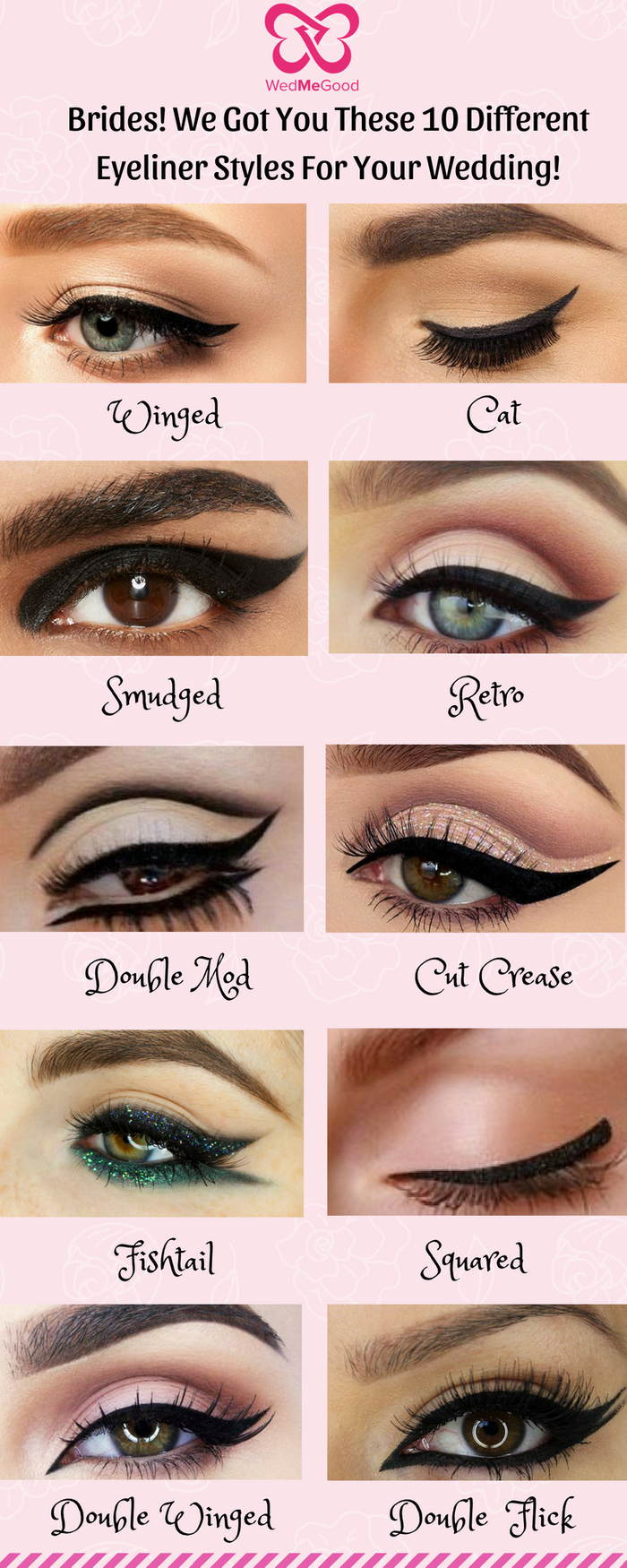 Photo of Be it a Winged or a Cat Eyeliner! We Got You These 10 Different Eyeliner Styles for Your Wedding!