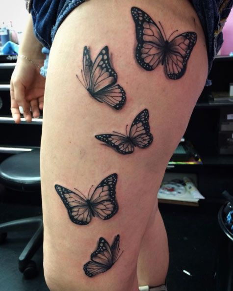 9436ae50f 28 Beautiful Black and Grey Butterfly Tattoos | — Tattoos ON Women ...