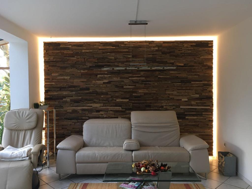Holz Verkleidung Wand Rustikal Hinterleuchtet Wohnzimmer Verkleidung Wande Holzvertafelung Wand Altholz Wandverkleidung