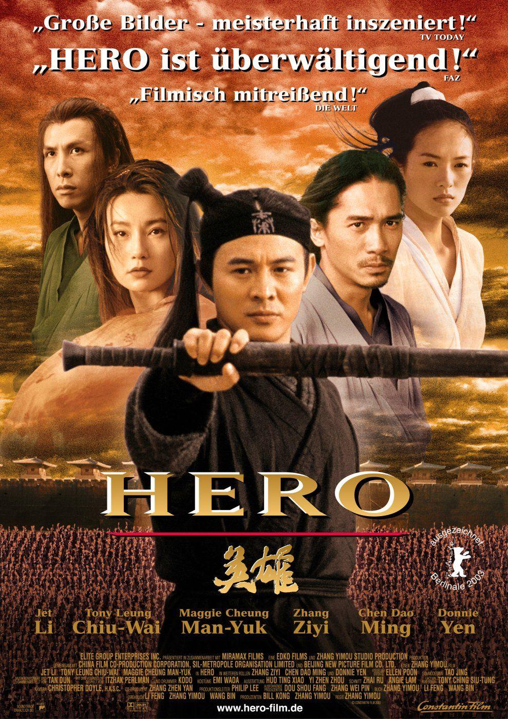 Hero Zhang Yimou Hero Movie Movie Posters Martial Arts Movies