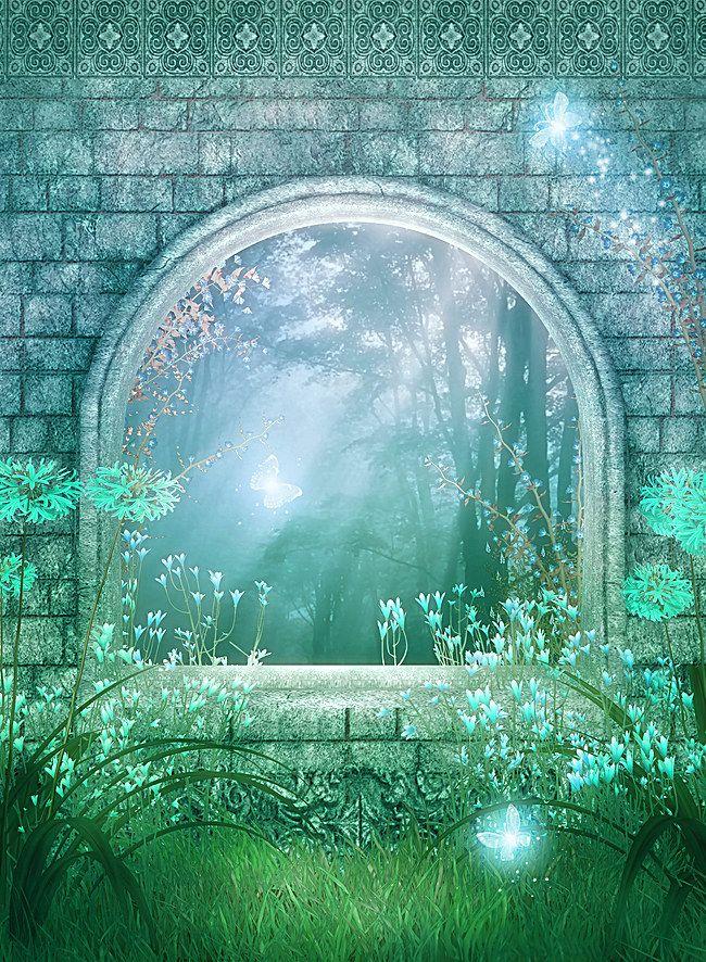 Magical Wedding Photography Studio Background