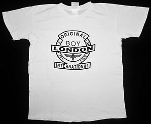 RARE VINTAGE BOY LONDON EAGLE PUNK ROCK POP SEDITIONARIES DESIGNER GLAM T-SHIRT