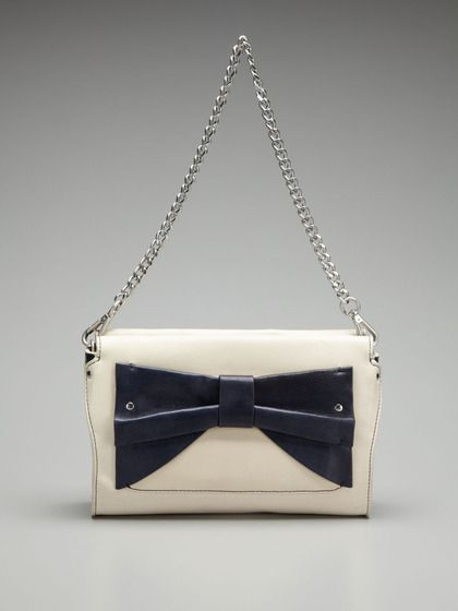 Solid Bow Convertible Clutch
