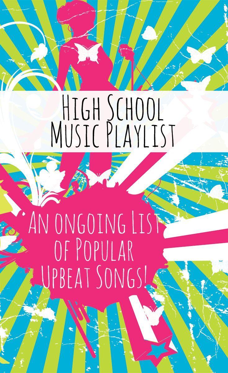 High School Music Playlist No Cuss Words And Clean Music High School Music School Songs Classroom Playlist
