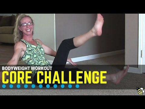 brutal bodyweight core challenge workout  no equipment
