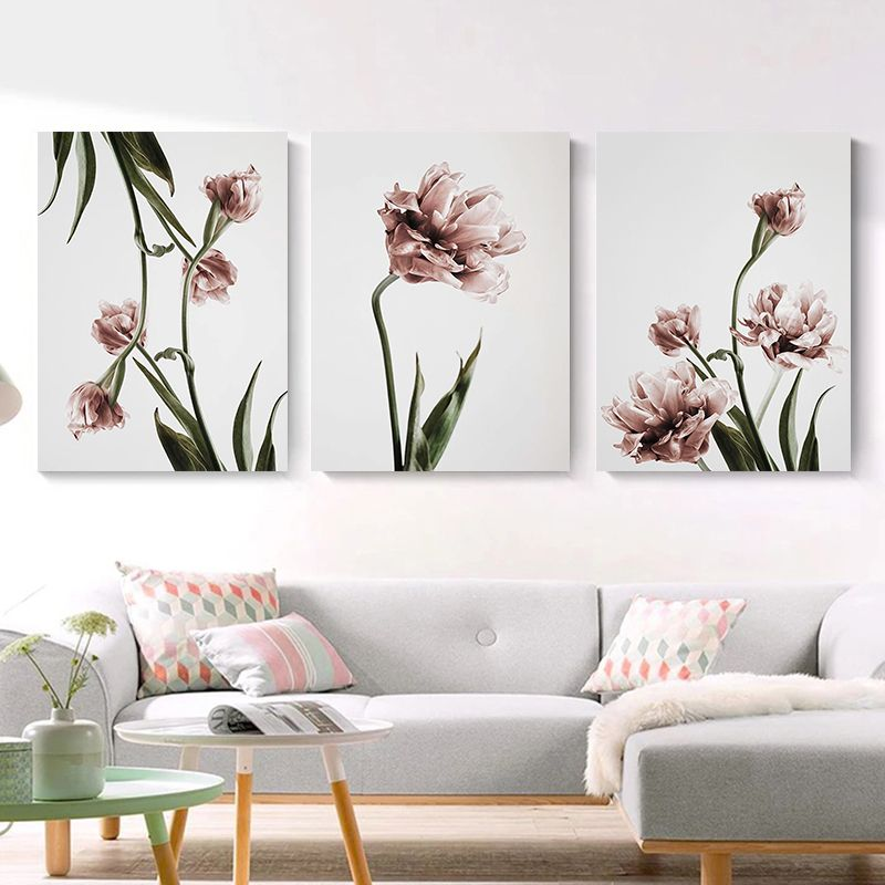 Green Plant Flower Canvas Art Painting Abstract Print Poster Picture Wall Living Room Bedroom Dining Room Modern Home Decoration Picture Wall Living Room Flower Canvas Art Canvas Art Painting Abstract