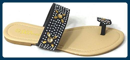 SKO'S , Damen Zehentrenner Black (40035) - Zehentrenner für frauen (*Partner-Link)