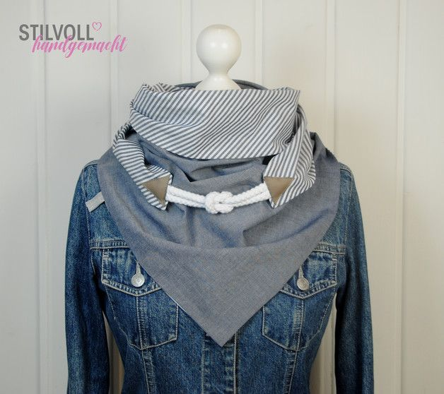 Photo of Great triangular scarf made of high quality cotton fabrics. Nice…