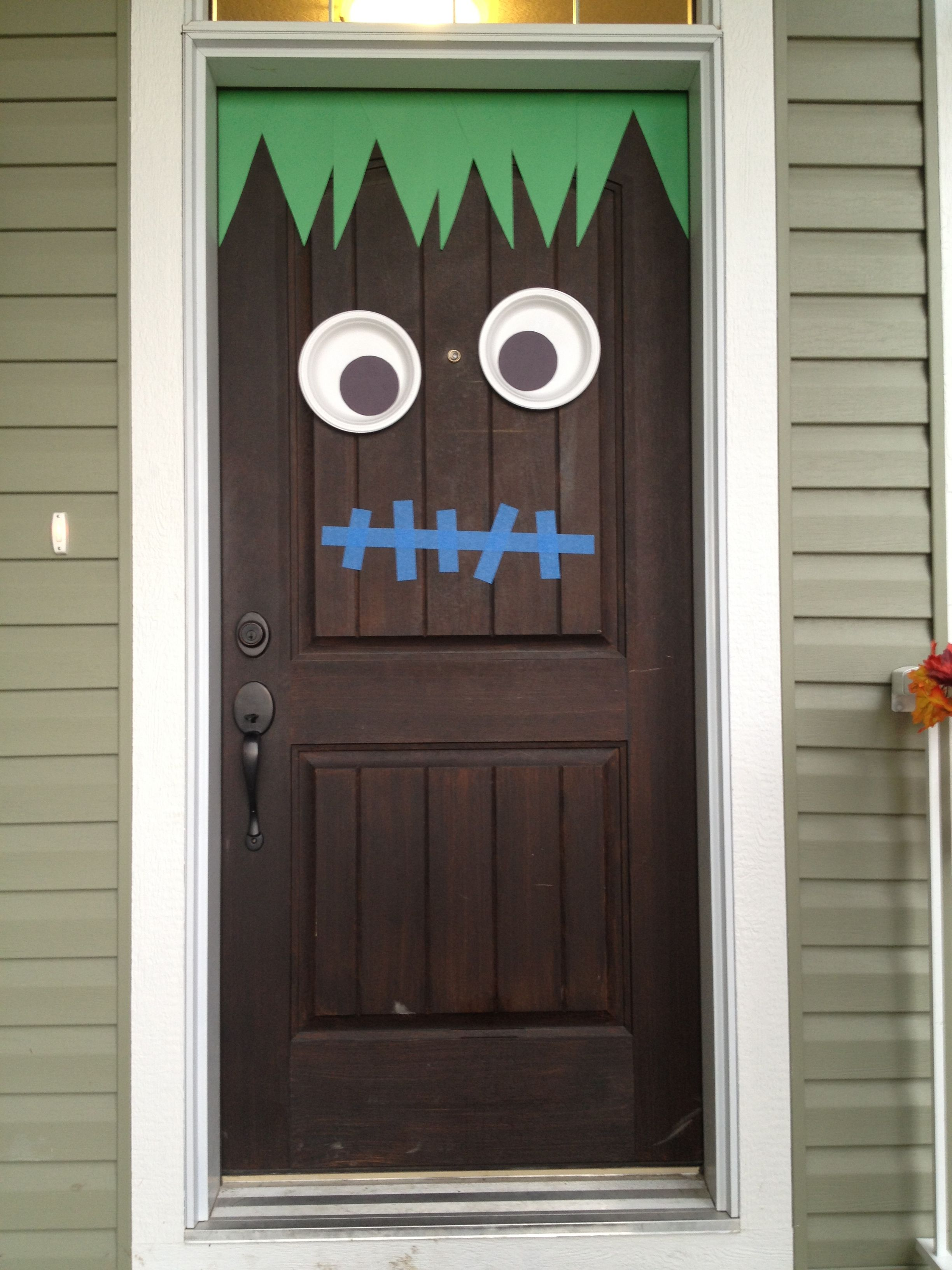 Exterior Doors another Frankenstein Halloween door decoration - Halloween Door Decoration Ideas
