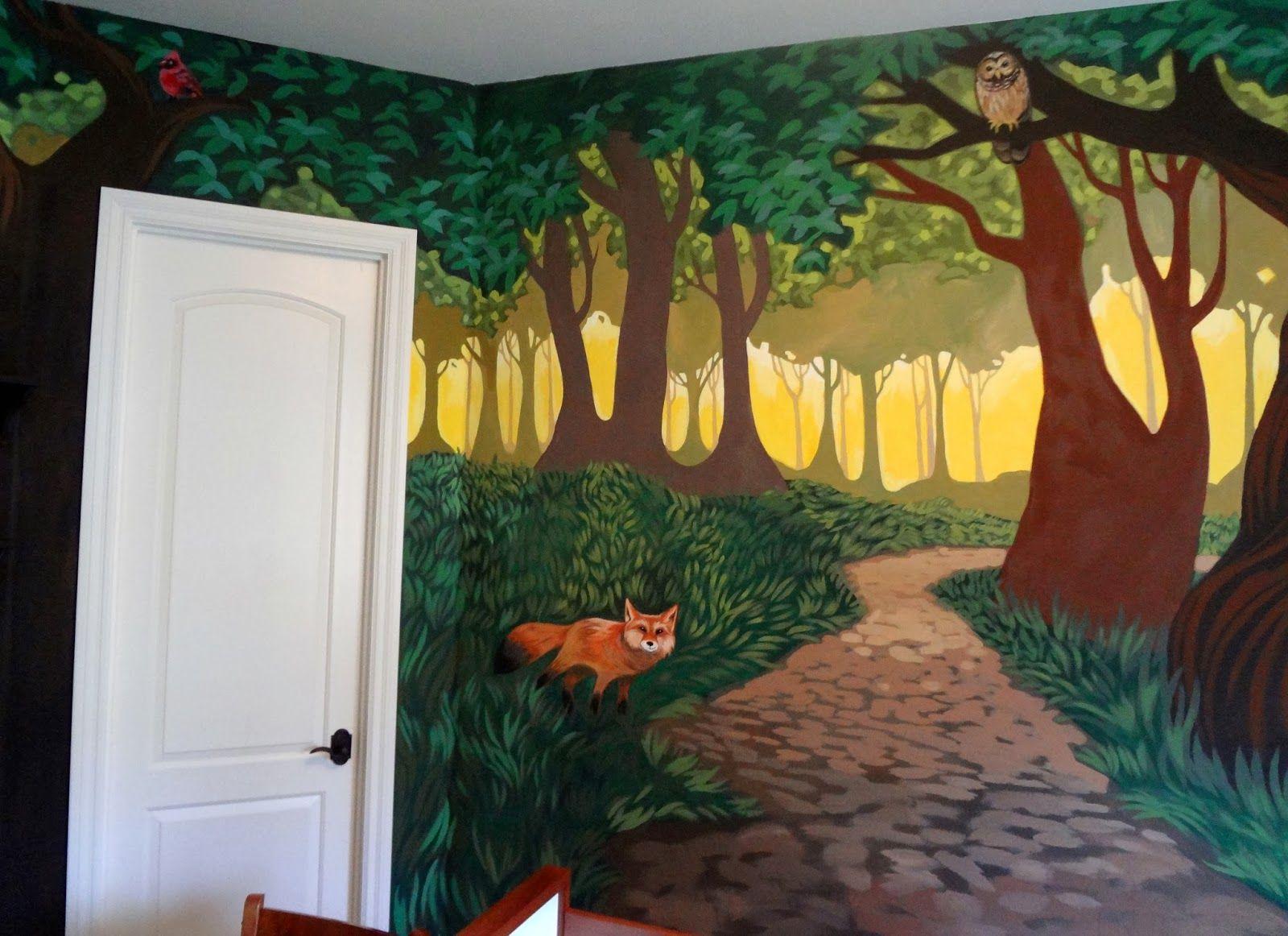 Fantastical Forest Nursery Mural... D.O.N.E! Nursery