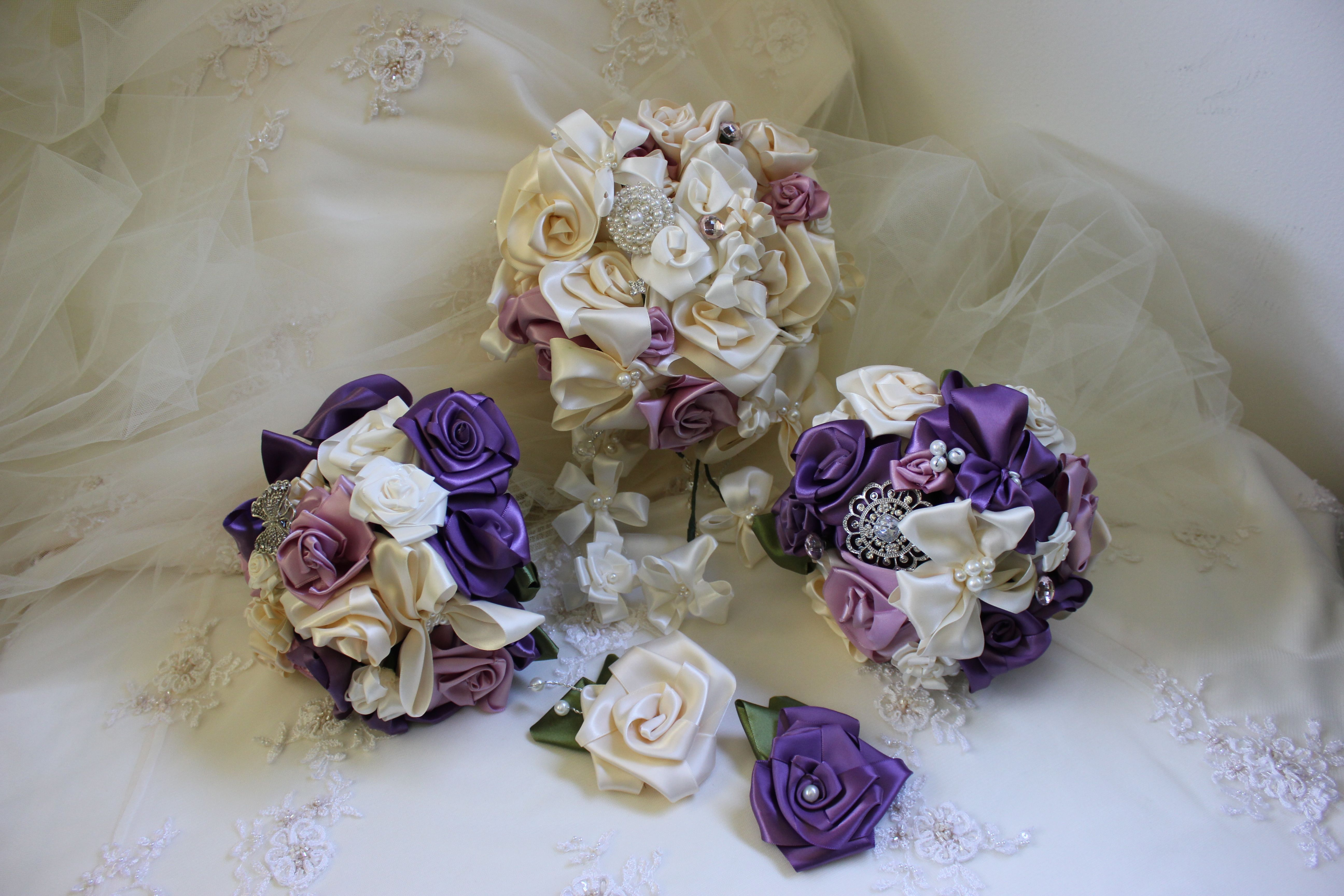 Ribbon Bouquets Very Easy To Make Cost Depends On How Much The