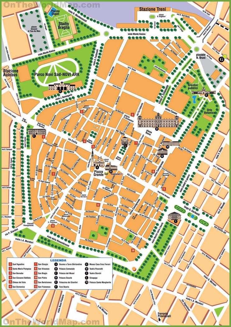 Modena tourist map Maps Pinterest Tourist map Vacation and Italy