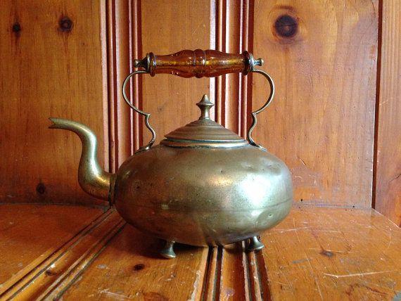 Antique Brass Teapot James Clews Birmingham by FilosaphyFinds