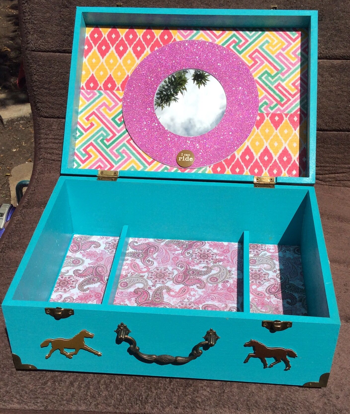 DIY wooden mod podge jewelry box Projects Products Gifts