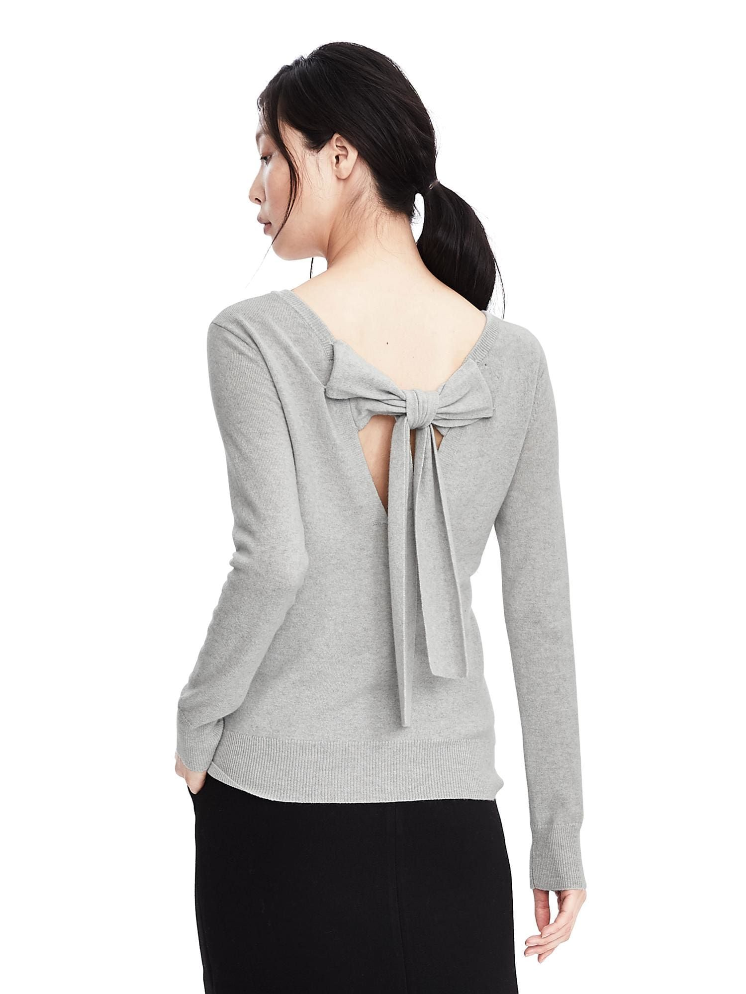 Todd & Duncan Cashmere Bow Back Sweater via Banana Republic ...