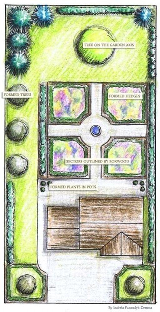 French Formal #Garden   Formal #garden plan - GardenPuzzle ...