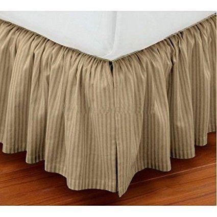 Amazon Com Bed Skirt Dust Ruffle Queen Size 16 Drop Fall Length