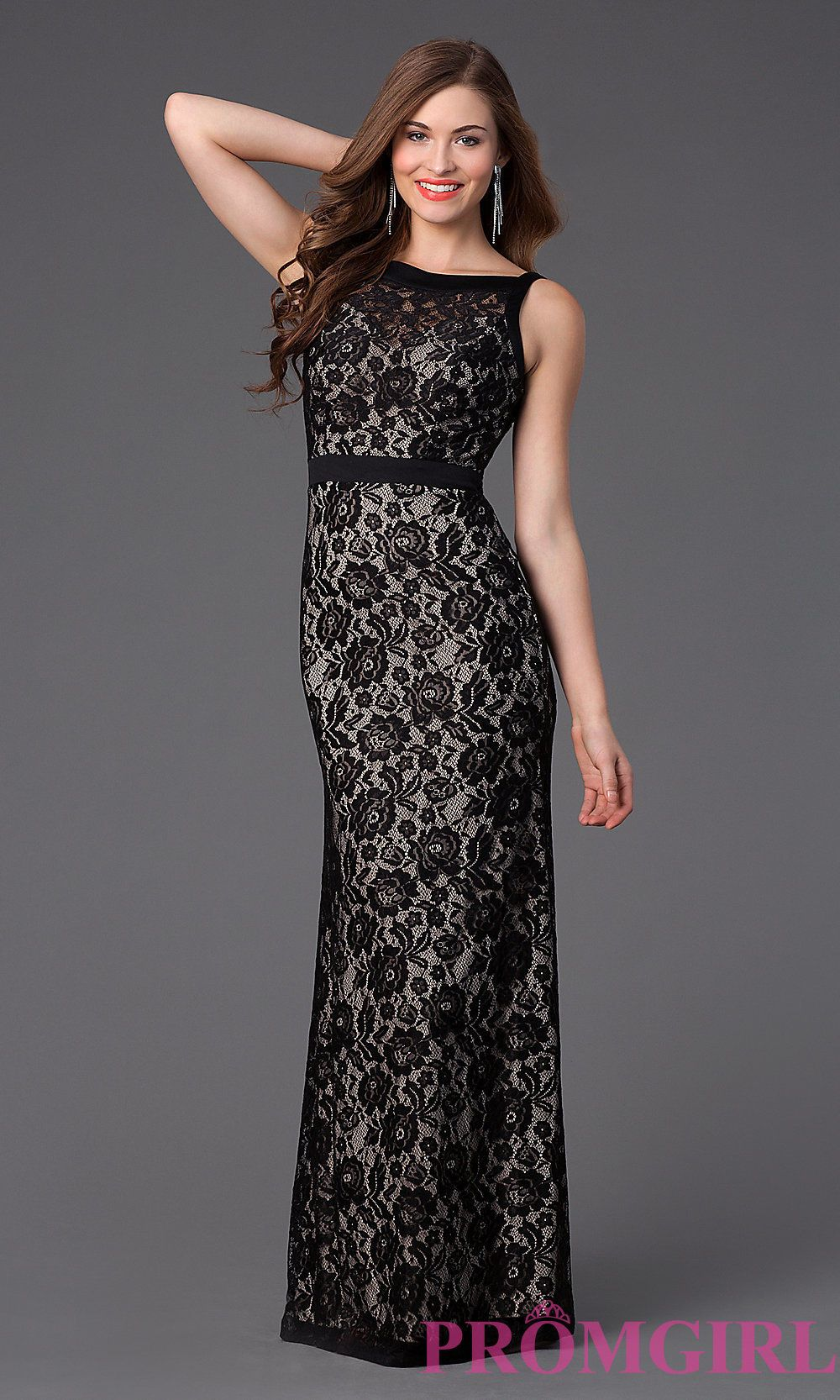 Image result for long black floral lace gown clothes pinterest