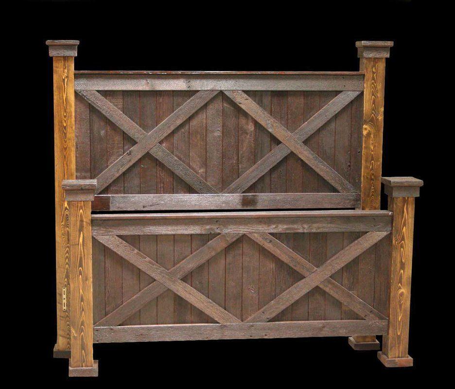 Jorgensen Platform Bed In 2020 Barn Wood Rustic Bedding Rustic Bed Frame