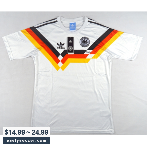 56b09c4f228 1990 West Germany Retro Home Soccer Jersey Shirt