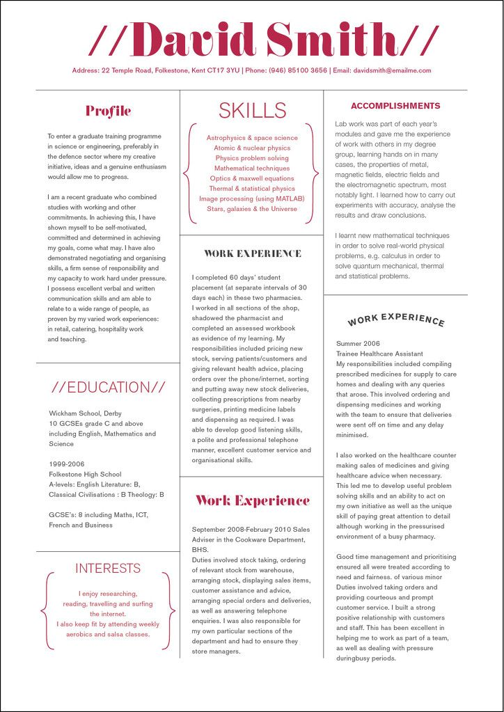 David smith creative cv design creategreatcv custom cv david smith creative cv design creategreatcv yelopaper Choice Image
