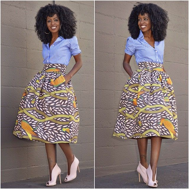 Ankara Skirt and Top Style  http://www.dezangozone.com/2015/06/ankara-skirt-and-top-style.html
