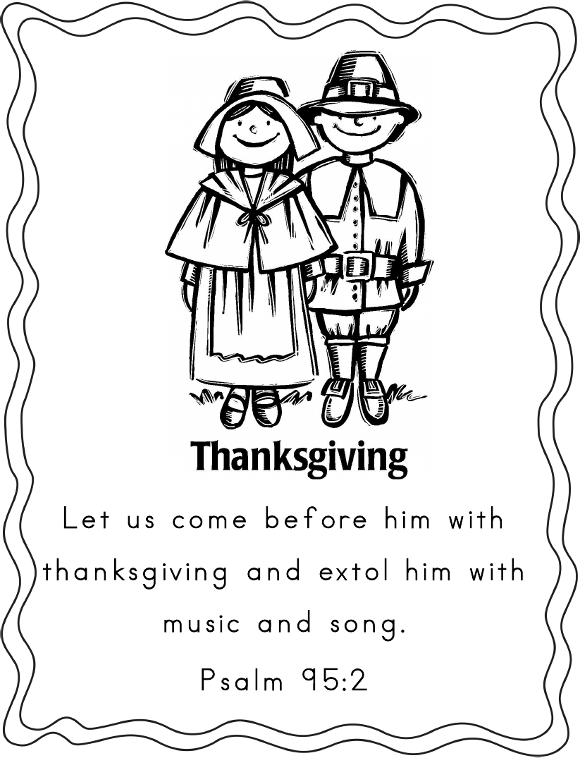 Thanksgiving Coloring Pages Scripture Thanksgiving