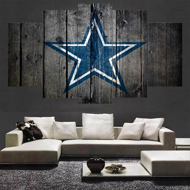 Dallas Cowboys 5 Panel Canvas For ManCave (With Images