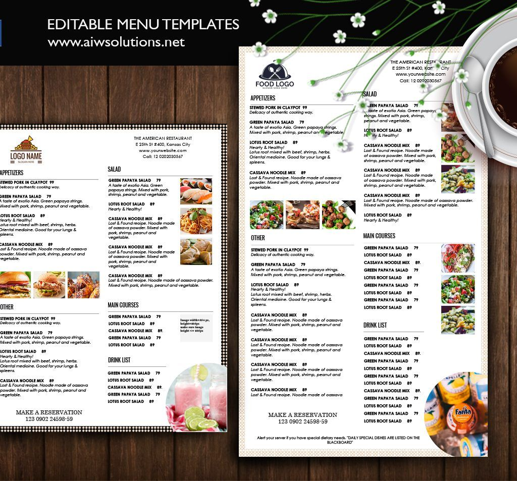 Food Menu Template Id39 Menu Template Food Menu Template
