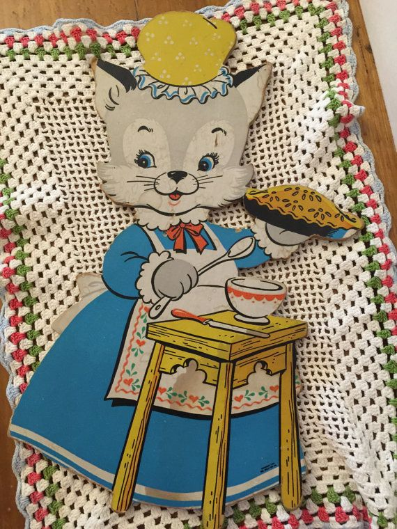 Wall Hanging Dolly Toy Co. Mama Cat 3 Little by PineStreetPickers