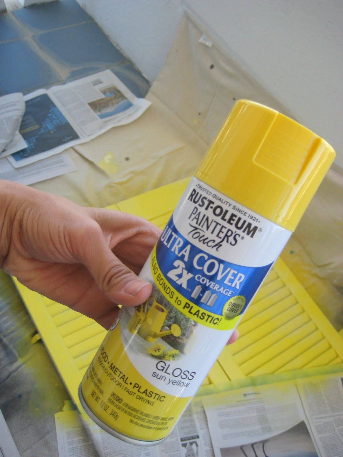 Sun Yellow Rust Oleum Spray Paint Makes Everything Cuter Click Through To See How Cute My Table Got Dihwork