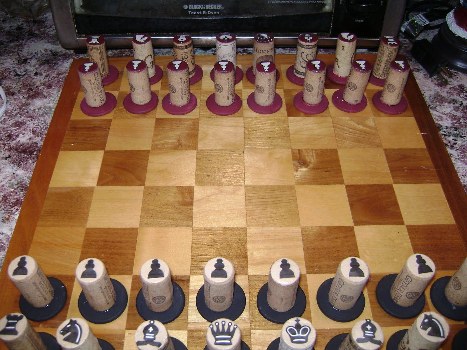 Always Sew Love Wine Cork Chess Set Wine Cork Diy Chess Set Chess Set
