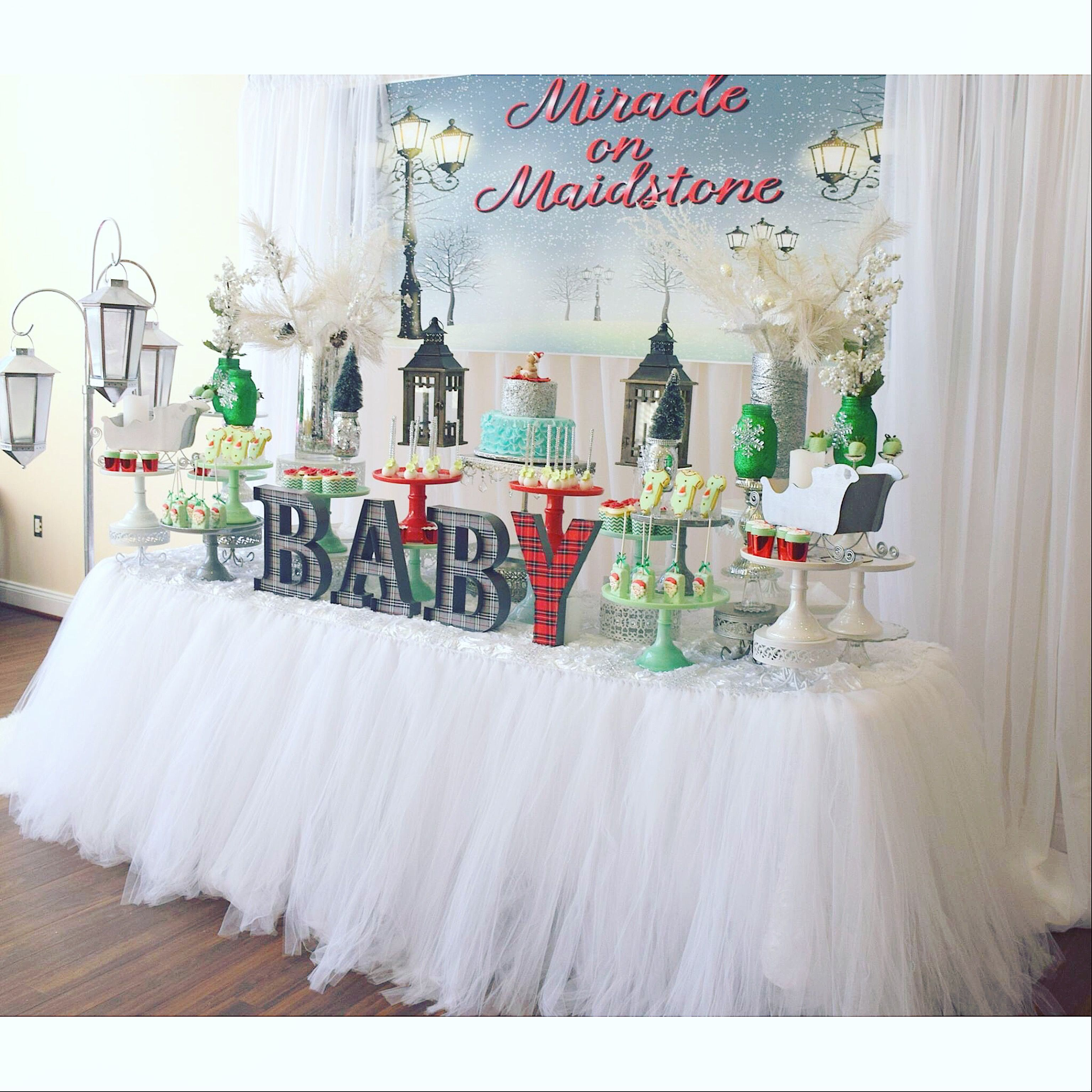 Miracle On 34th Street Baby Shower Dessert Table Baby Shower