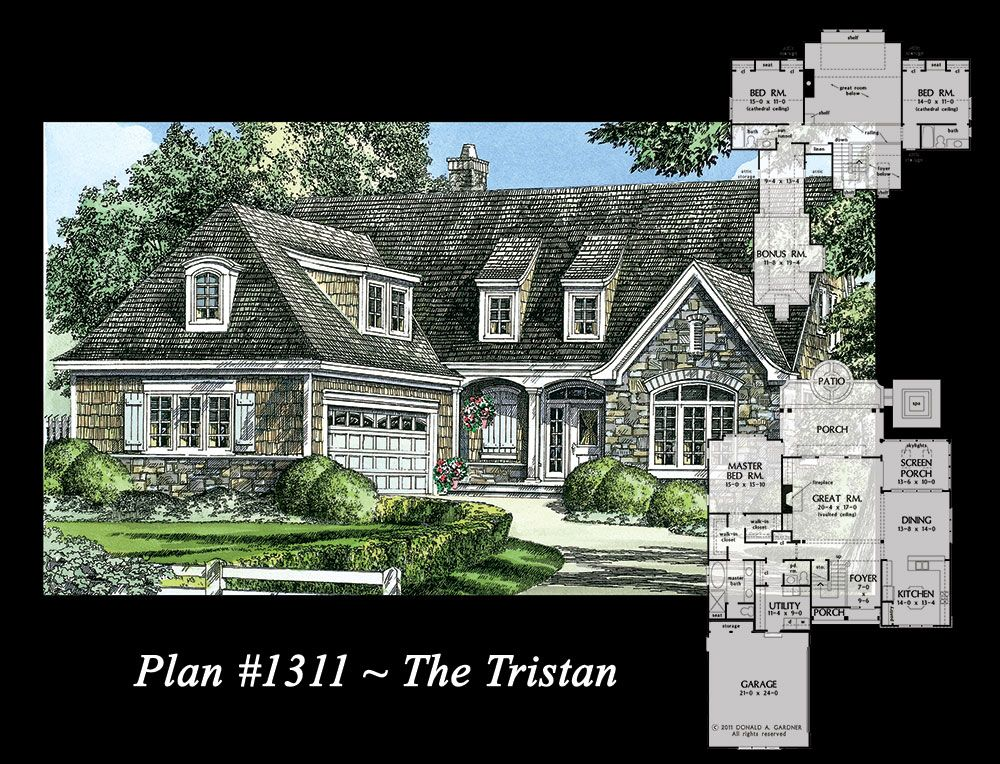 The tristan plan 1311 multiple for Shed dormer house plans