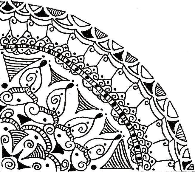 Corner Doodle In 2019 Doodles Pattern Drawing Mandela