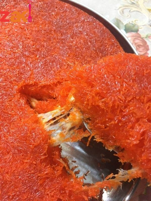 طريقة عمل الكنافة النابلسية رهييييييييبة زاكي Special Desserts Food Desserts