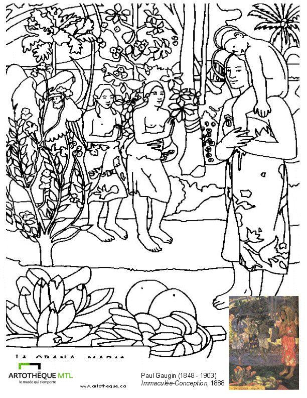 Gauguin : Immaculée Conception | A: Printables, Tutorals, Techniques ...