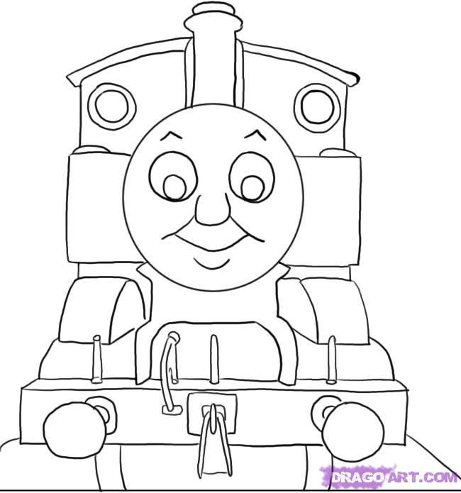 how to draw thomas the tank engine step 5 | Thomas themed party ...