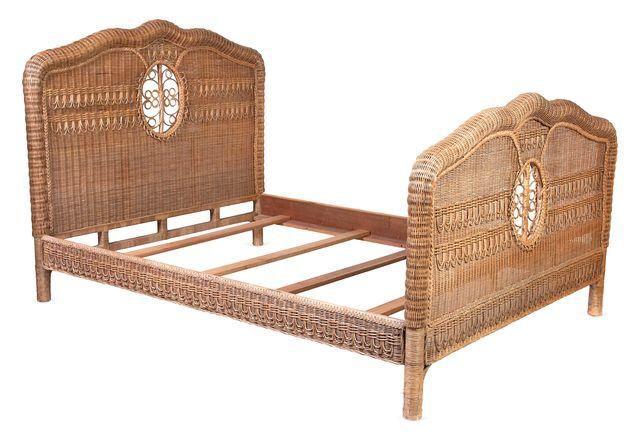 Ralph Lauren Wicker Queen Bed Frame On Chairish For My
