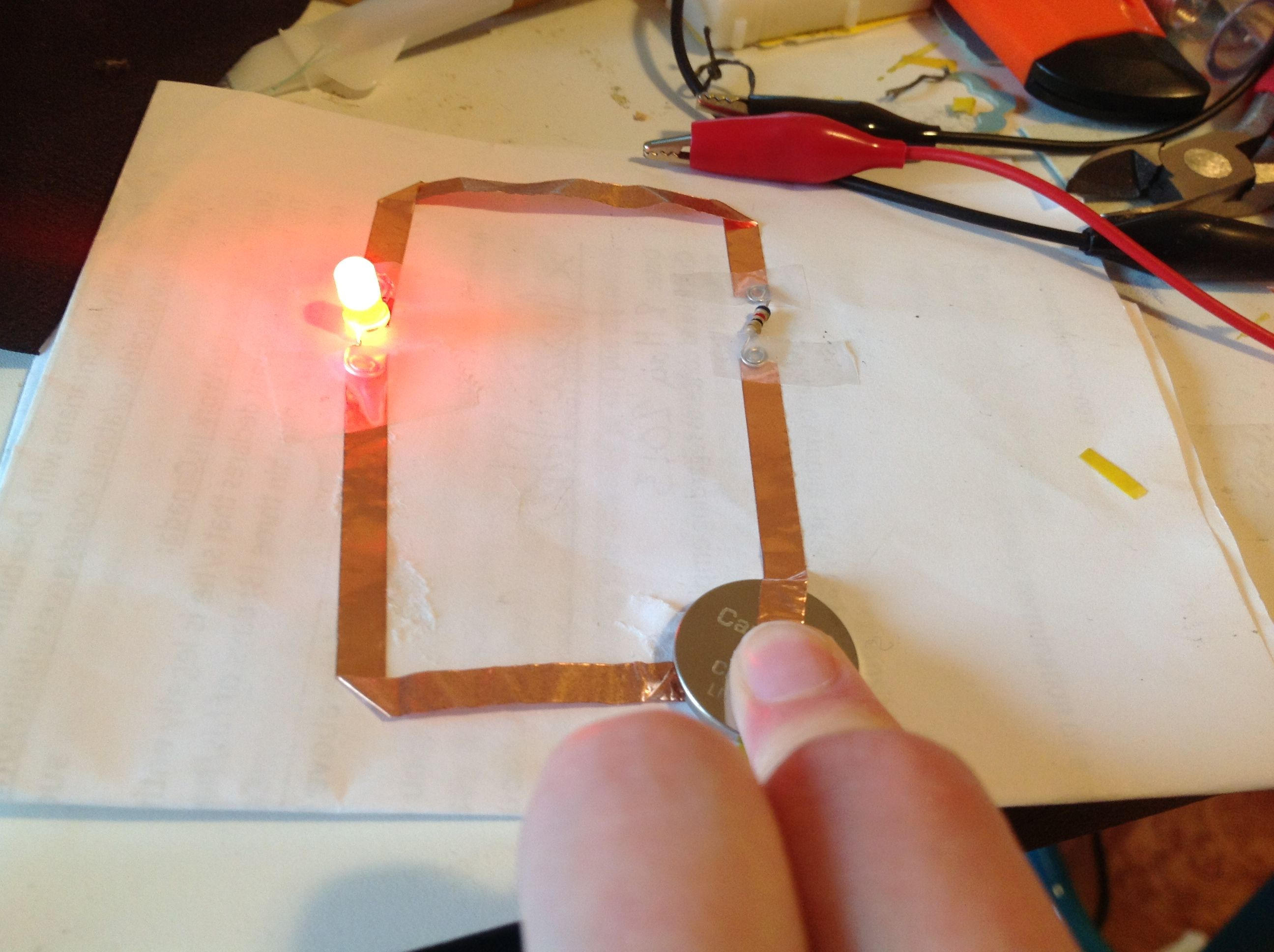 Copper Tape Circuit Google Search Arts Crafts Led Works Lighting Circuitsled Pcb Boardalumimun Buy