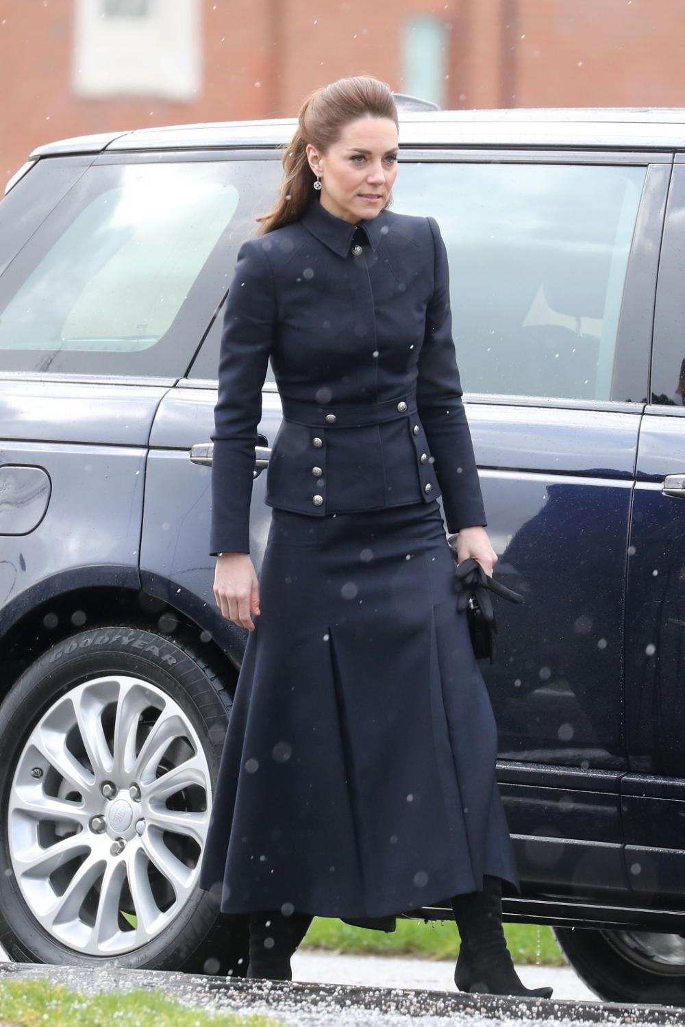 Kate Middleton in militaryinspired Alexander McQueen in