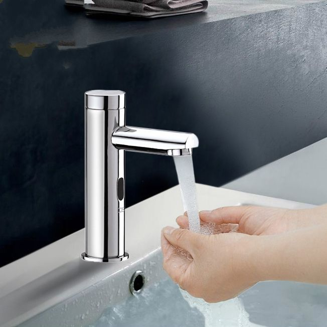 Brass Cold Touch Free Infrared Basin Tap Automatic Sensor Faucet
