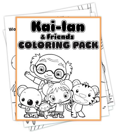 Ni Hao, Kai-lan & Friends Coloring Pack | coloring | Pinterest