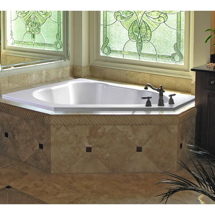 Eureka II 60 x 60 Drop-In Soaking Bathtub #cornerbathtub
