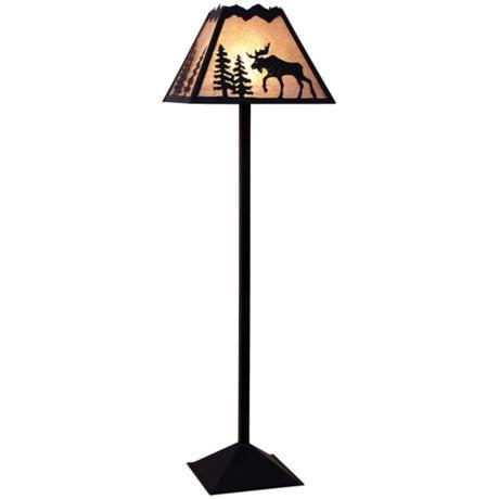 Mountain with moose mica shade floor lamp shadows and light mountain with moose mica shade floor lamp aloadofball Choice Image