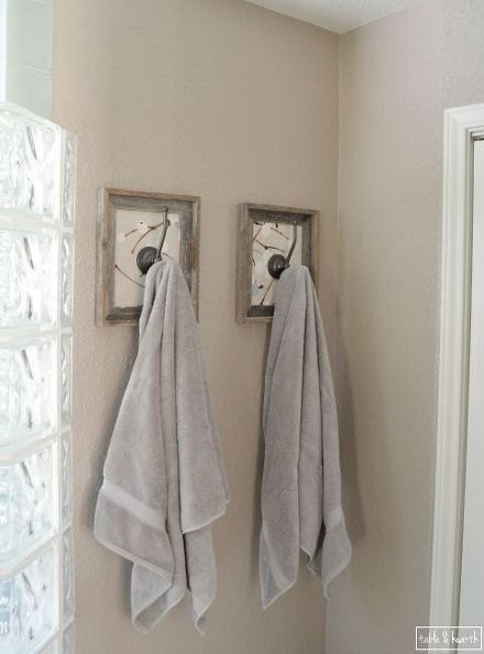 Framed Fabric Towel Hook Update Bathroom Towel Hooks Towel Hooks Framed Fabric