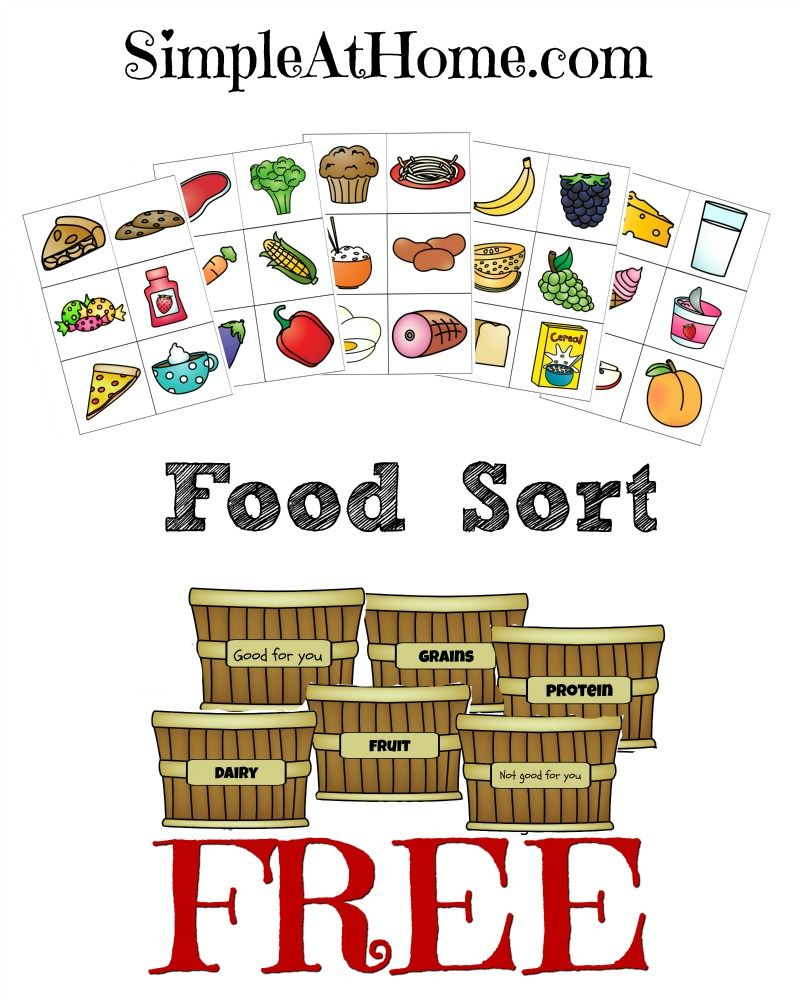Food Groups Unit Study w/ Printable Food Sort Game • Simple At Home   Food  groups for kids [ 1000 x 800 Pixel ]