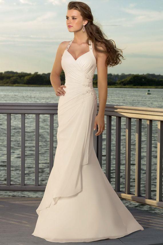 Off White Beach Wedding Dresses