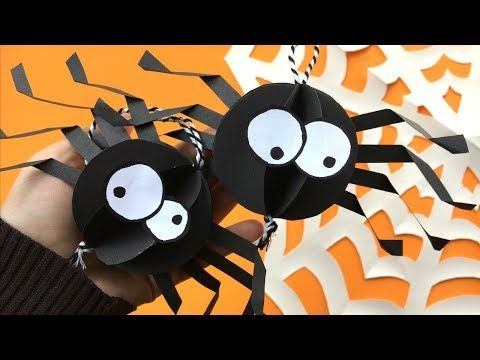 Paper Spider Craft How To Make A 3d Spider Out Of Paper Craftss
